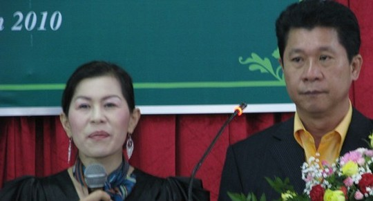 Bà Hà Linh và ông Lâm