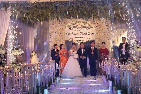 Đám cưới của con trai ông Đỗ Thành Trung diễn ra rất xa xỉ và hoành tráng. Ảnh: Kiến thức