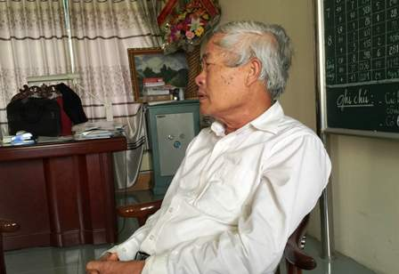 Ông Nguyễn Đức Huy, Chủ tịch HĐQT trường Lương Thế Vinh cho biết thông tin về kỳ thi cao học (Ảnh: Dân trí)