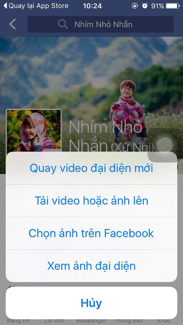 Chỉ cần click vào ảnh đại diện, bạn có thể chọn tải video lên