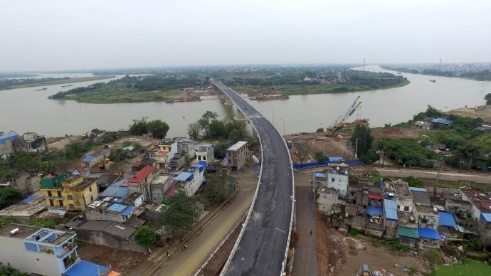 Cầu Tân Phong hoàn thành với tiến độ kỷ lục chỉ sau 6 tháng thi công