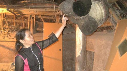 Bảo tàng của cô Khiếu gồm những đồ nông nghiệp như rổ, nơm bắt cá...