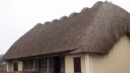 Ngôi nhà theo mô hình cổ xưa.