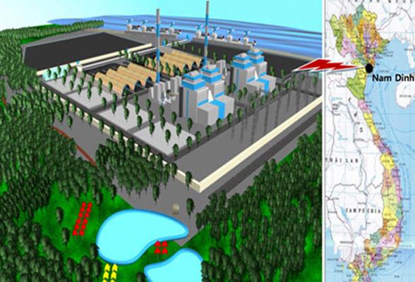 Phối cảnh dự án BOT Nhà máy Nhiệt điện Nam Định 1