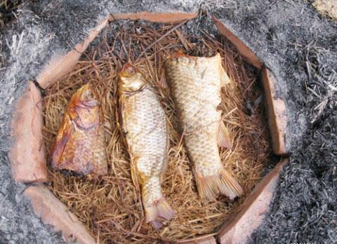 Đặc sản Nam Định: Cá nướng úp chậu