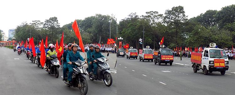 Một số hình ảnh lễ ra quân, diễu hành