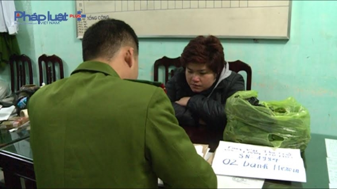 Đối tượng Hoa tại cơ quan điều tra - Công an tỉnh Nam Định