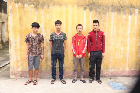 Băng cướp dạt từ TP.Hồ Chí Minh về Nam Định hoạt động bị bắt giữ - Ảnh: Văn Đông