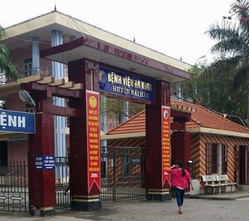 Bệnh viện Đa khoa huyện Hải Hậu nơi cháu bé được sinh ra