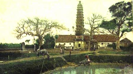 Chùa tháp Phổ Minh xưa.