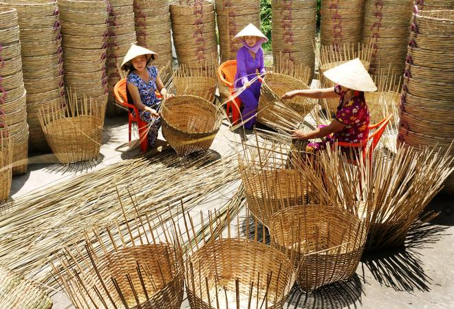 Làng nghề mây tre đan Thạch Cầu Xã Nam Tiến Nam Trực Nam Định