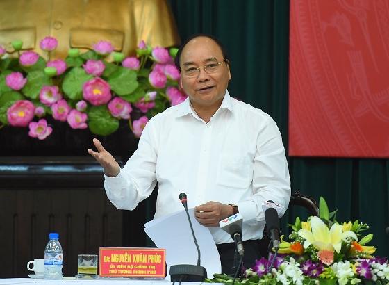 Thủ tướng Chính phủ Nguyễn Xuân Phúc phát biểu tại buổi làm việc với lãnh đạo chủ chốt tỉnh Nam Định.