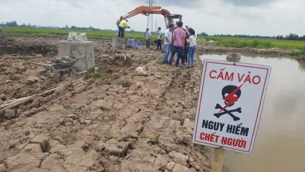 Vụ móng trụ đường dây 220kV làm bằng bê tông trộn đất: Sẽ đập bỏ toàn bộ