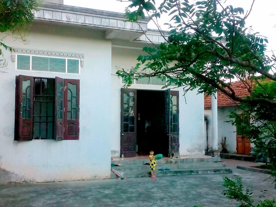 Ngôi nhà đang sinh sống của gia đình anh Lưu Công Trung