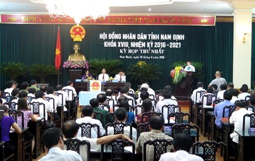 Phiên họp đầu tiên của HĐND tỉnh Nam Định khóa mới tập trung vào việc bầu nhân sự chủ chốt.