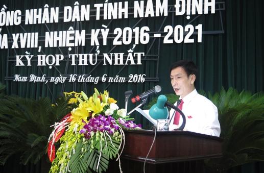 Ông Phạm Đình Nghị được tái cử chức danh Chủ tịch UBND tỉnh.