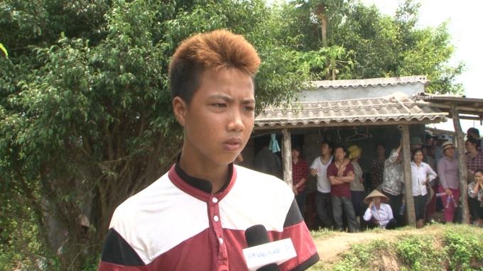 Cháu Trần Quang Nguyên - Nhân chứng của vụ việc.
