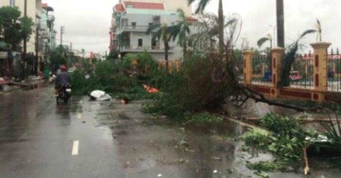 Nam Định chịu thiệt hại nặng nề từ cơn bão số 1.