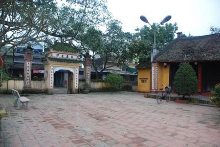 Đình làng Thượng Lỗi - nơi thờ bát hương danh tướng Lý Triều Công.