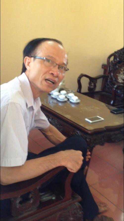 Ông Phạm Quang Dương - Trưởng phóng LĐTB&XH huyện Trực Ninh không hề hay biết vụ việc