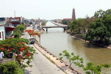 Một góc cảnh quan của huyện Hải Hậu - huyện đạt chuẩn nông thôn mới đầu tiên của tỉnh Nam Định