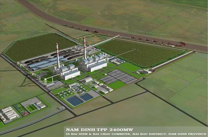 Phối cảnh Nhà máy nhiệt điện Nam Định 1