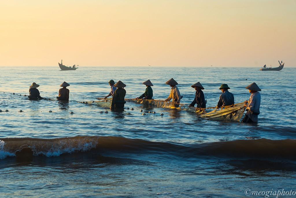 Chứng kiến tận mắt mới hiểu được nỗi vất vả cực nhọc của người dân làm nghề chài lưới để có được những mẻ cá tươi ngon.