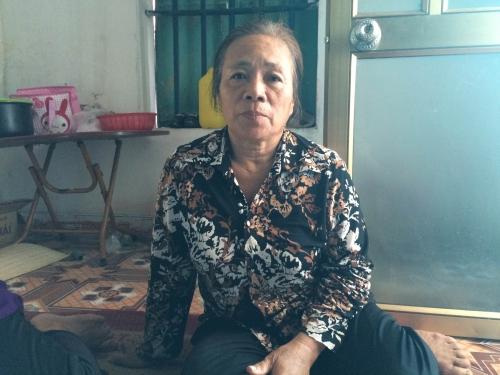 Bà Ninh Thị Núi kể lại sự việc.