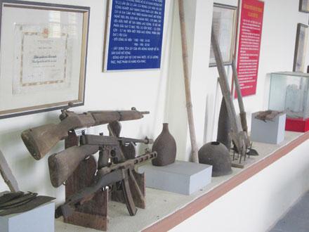 Một góc bảo tàng xã Liên Minh.