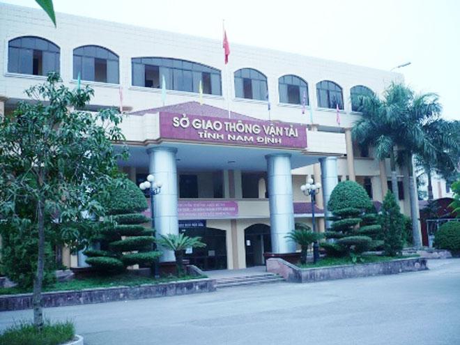Sở GTVT tỉnh Nam Định, nơi xảy ra vụ tham ô tài sản.