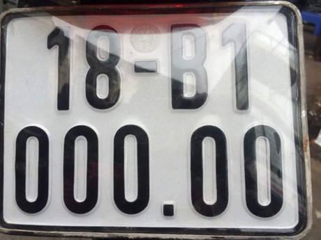 Biển số xe xuất hiện trên MXH.