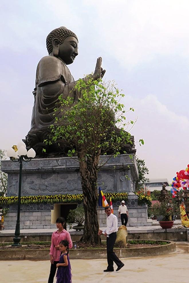 Đại tượng Phật Thích Ca Mâu Ni khởi công xây dựng từ ngày 8/4/2012. Đến ngày 22/4/2014, tượng Phật chính thức được khởi đúc với việc rót mẻ đồng đầu tiên dưới sự chứng kiến của các cấp lãnh đạo Trung ương, địa phương và đông đảo chư vị Tăng, ni, Phật tử thiện tín.