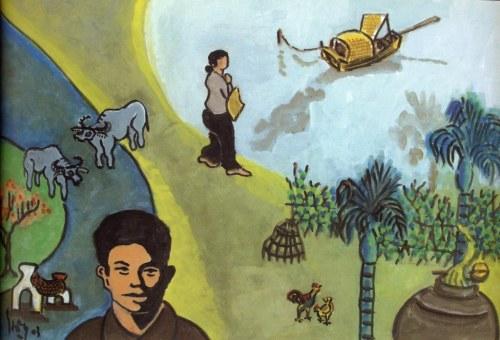 Nguyễn Bính - Con đê đầu làng