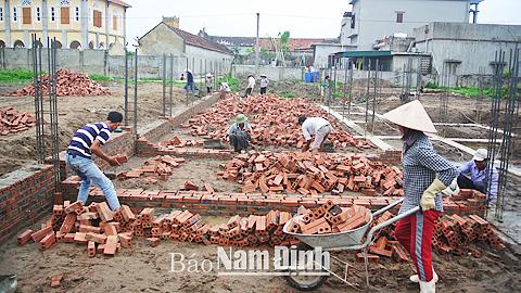 Thi công Trạm Y tế Thị trấn Quất Lâm.