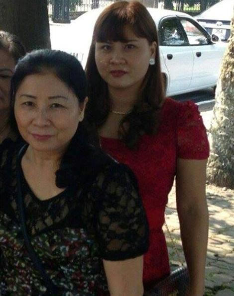 2 mẹ con bị can Đặng Thị Sim và Đặng Thị Huyền
