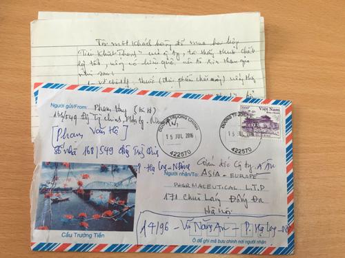 Lá thư ông Hộ chia sẻ về việc sử dụng Tiêu Khiết Thanh hiệu quả