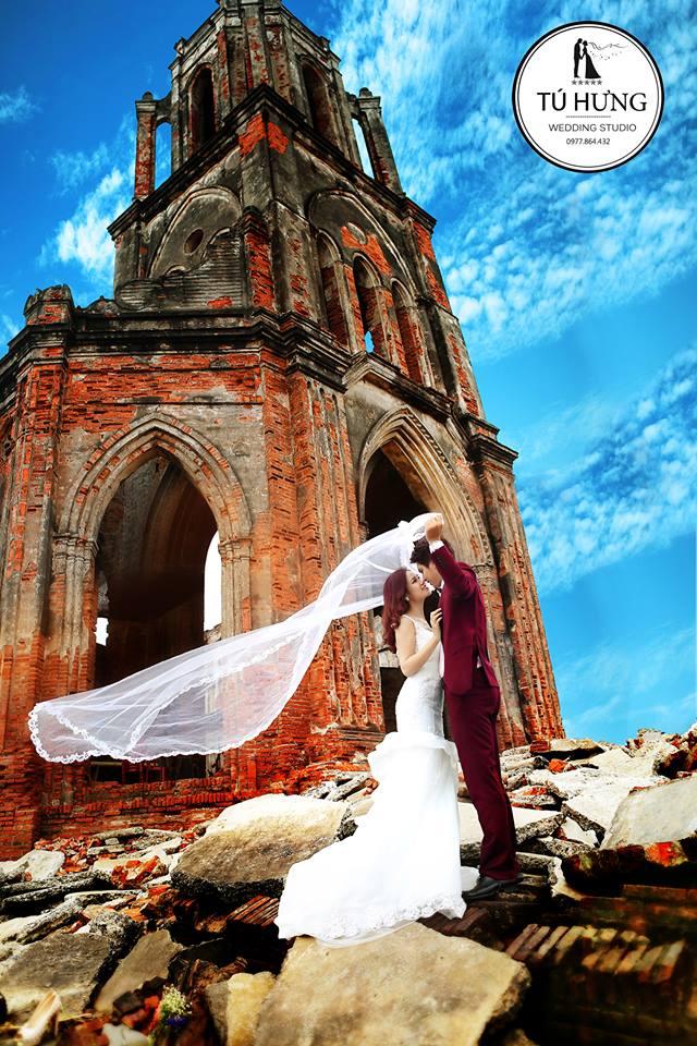 Chụp ảnh cưới tại Nhà Thờ Đổ Nam Định