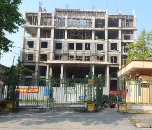 Kho bạc Nhà nước Nam Định đang xây dựng.