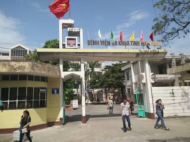 Bệnh viện Đa khoa tỉnh Nam Định nơi xảy ra vụ việc.
