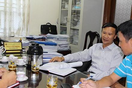 Ông Phan Văn Phong - Phó Giám đốc Sở TNMT tỉnh Nam Định.