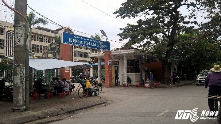 Bệnh viện Đa khoa tỉnh Nam Định - nơi liên tiếp xảy ra những trường hợp tử vong bất thường.  Ảnh Ngọc An