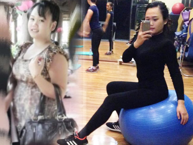 Bà mẹ 1 con Ngọc Ánh trước và sau khi giảm cân