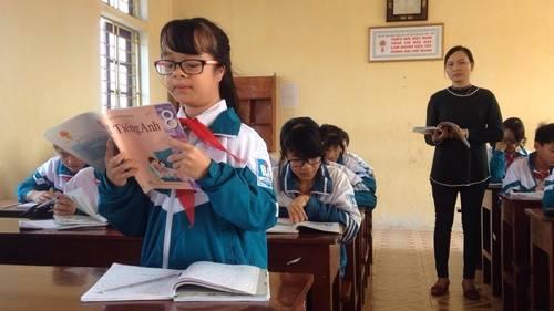 Trâm vừa đạt giải ba cuộc thi tiếng Anh của huyện.