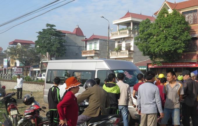 Chiếc xe ô tô trong vụ tai nạn.