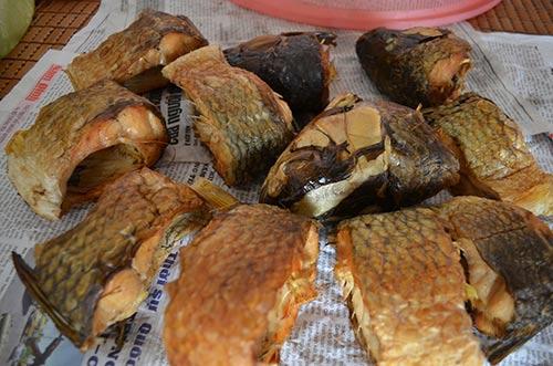 Cá được nướng trong vòng 7 giờ. Khi cá nướng xong thường có màu vàng óng, thịt cá dai, thơm ngon, hương vị đậm đà