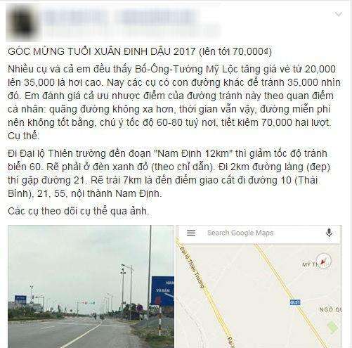 """Tài khoản Facebook Q.X.V. đăng bài hướng dẫn cách đi đường vòng để """"né"""" BOT. Ảnh chụp màn hình"""