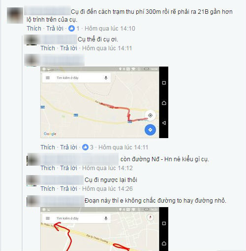 Cộng đồng mạng bàn tán rôm rả các cách tránh BOT trên đường về quê ăn Tết Nguyên đán. Ảnh chụp màn hình