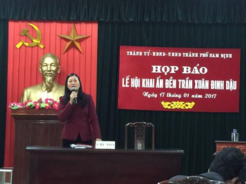 Trưởng Ban tổ chức lễ hội đền Trần thông tin về lễ hội năm 2017
