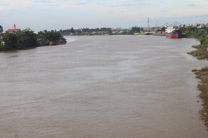 Khúc sông Đáy chảy qua địa phận huyện Ý Yên, tỉnh Nam Định