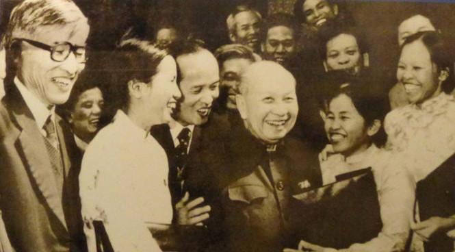Ông Trường Chinh tại Đại hội Đảng toàn quốc lần thứ VI, tháng 12.1986
